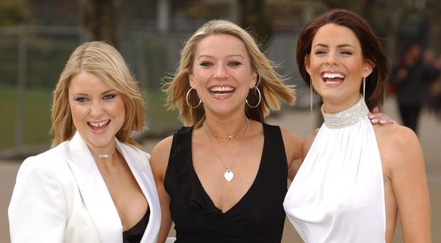 Footballers Wives stars (left-right) Katherine Monaghan, Zoe Lucker and Susie Amy during the second series of the show. (Andy Butterton/PA)