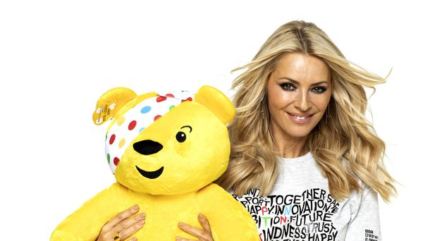 Tess Daly with Pudsey Bear (BBC/PA)