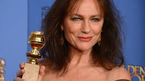 Jacqueline Bisset with her Golden Globe (AP)