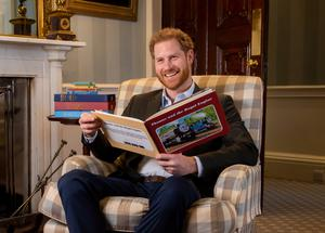 """Image shows Harry, The Duke of Sussex photographed in January this year during the recording of his on-camera introduction to the new animated special """"Thomas and Friends: The Royal Engine"""". The 22-minute episode features Her Majesty The Queen and HRH The Prince of Wales as a child and has been produced as part of Thomas and Friends' 75th anniversary celebrations this year. The special will be screened in the US on Netflix on 01 May and in the UK on Channel 5 Milkshake! at 09:05am on 02 May before it is then aired in other countries this year. The Royal Engine will see Thomas the Tank Engine travel to London for the first time and introduces a new character, Duchess of Loughborough, who is voiced by actress Rosamund Pike. Global plans for the Thomas and Friends 75th anniversary include more storytelling touchpoints than ever before with new specials and episodes, exclusive YouTube content, a birthday music album, podcasts for kids in the form of audio stories and all-new book titles along with exciting new partnerships where Thomas and Friends will show up in unexpected places. Press contact for story: Mark Collins, MCPR, +44 07974215334 / markc@markcollinspr.comCredit: image use must be accompanied with a tune-in credit for the TV show with screening date and time"""