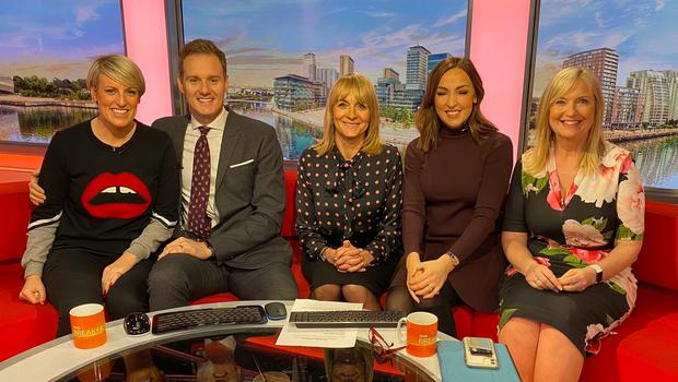 Steph McGovern with her BBC Breakfast colleagues (BBC)