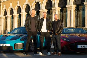 (Left to right) Andrew 'Freddie' Flintoff, Paddy McGuinness and Chris Harris are the new Top Gear presenting team (David Parry/PA)