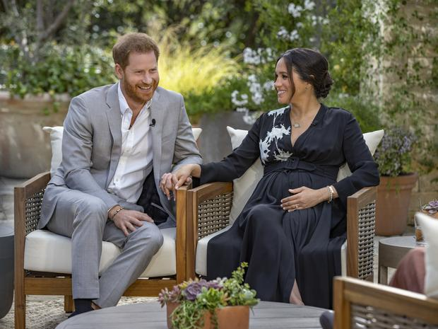Harry and Meghan talked candidly during their interview (Harpo Productions/Joe Pugliese)