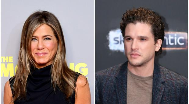 Jennifer Aniston and Kit Harington are both nominated for Golden Globes (PA)