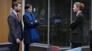 Anna Maxwell Martin, right, with Martin Compston and Vicky McClure in the series (BBC)