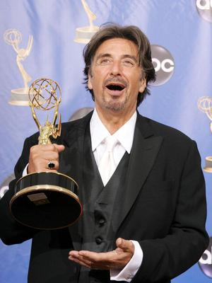 Al Pacino with his Emmy for Angels In America (Specker Francis/PA)