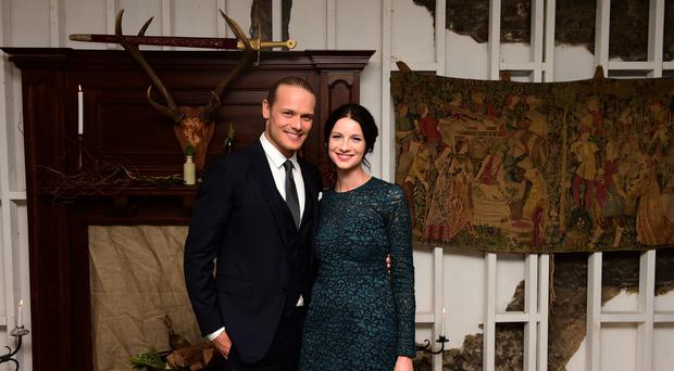 Sam Heughan and Caitriona Balfe both praised the dedication of their fans (Ian West/PA)