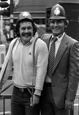 Cannon and Ball appeared in their first film, Boys In Blue, in 1982 (PA)