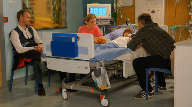 Oliver in hospital (Danielle Baguley/ITV/PA)