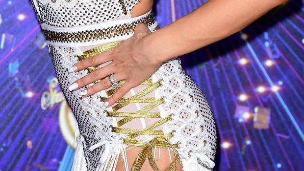 Katya Jones wore a ring featuring a large rock (Ian West/PA)
