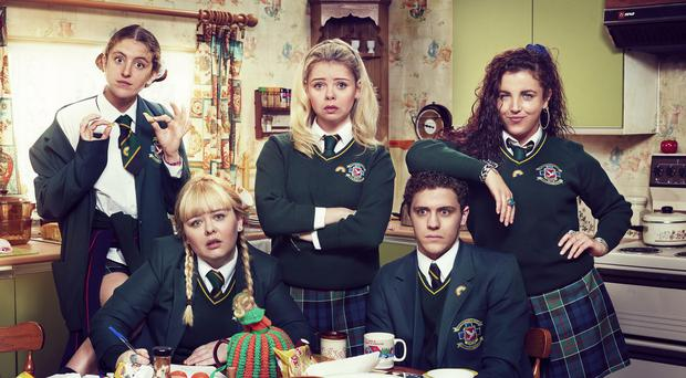 The cast of Derry Girls (Hat Trick/Channel 4)