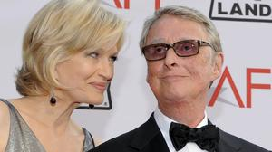 Mike Nichols, pictured with wife Diane Sawyer, has died