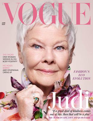 Dame Judi Dench has become the oldest-ever cover star in British Vogue's history (Vogue/Nick Knight/PA)