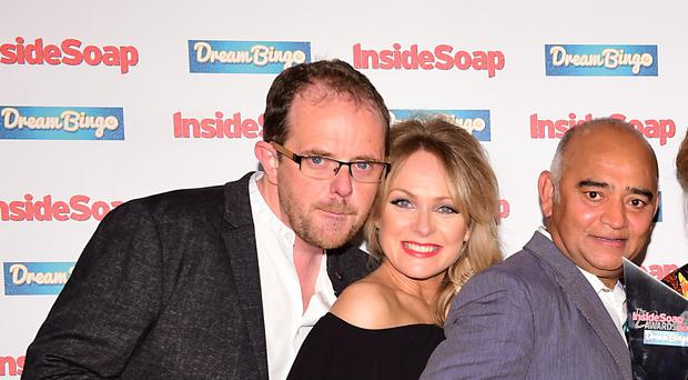 Emmerdale star Liam Fox (left) has revealed he is engaged to fellow actor Jo Hudson (Ian West/PA)
