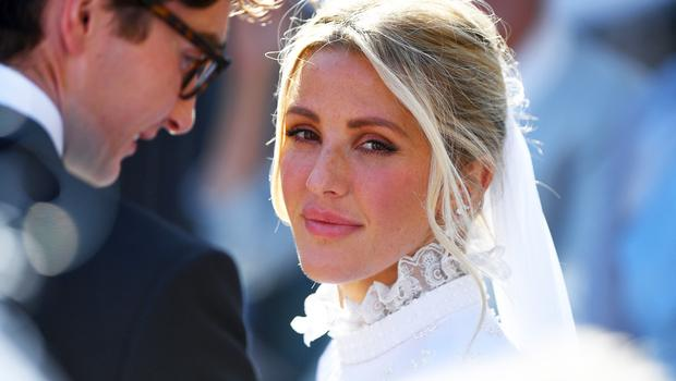 Ellie Goulding after her marriage to Caspar Jopling earlier this year (James Hardisty/PA)