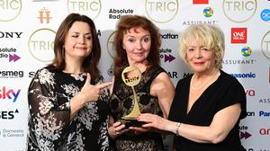 Gavin And Stacey and the other winners at the Tric Awards 2020 (Ian West/PA)