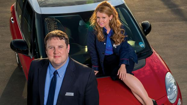 Peter Kay as John and Sian Gibson as Kayleigh in the BBC comedy Car Share (BBC/Goodnight Vienna Productions)