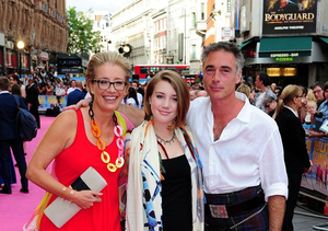 Greg Wise said he and wife Emma Thompson, pictured with their daughter Gaia, don't like to bring work home