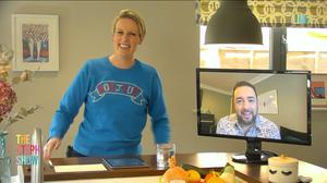 Steph McGovern interviewing Jason Manford on The Steph Show (Channel 4)