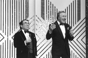 With Ronnie Corbett (PA)