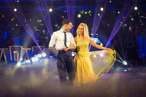 Marquez dancing with celebrity partner Katie Piper in 2018 (Guy Levy/BBC)