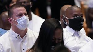 Hollywood actors Jamie Foxx and Channing Tatum stood with George Floyd's family as they attended his funeral in Houston (AP Photo/David J. Phillip, Pool)