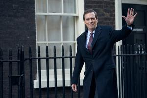 Hugh Laurie in his role in Roadkill (BBC/The Forge/Robert Viglasky).