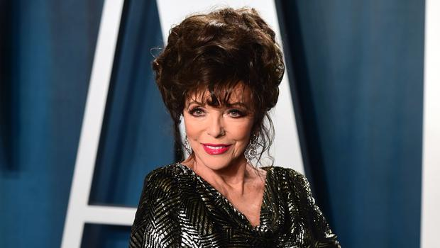 Joan Collins said she had to turn Parasite off for the last 20 minutes (Ian West/PA)