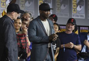Mahershala Ali, centre, will play vampire hunter Blade in a reboot of the franchise (Chris Pizzello/Invision/AP)