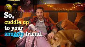 Tom Hardy and Woody on CBeebies