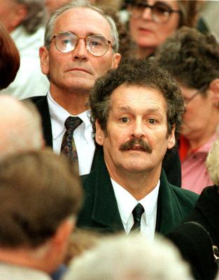 Bobby Ball with Tommy Cannon in Sheffield in 1995 (Paul Barker/PA)