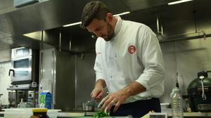 Christian Day hard at work in the kitchen (BBC)