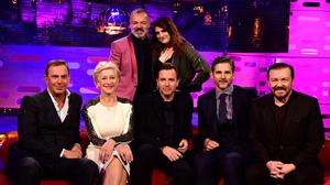 Dame Helen Mirren was joined by Meghan Trainor, Kevin Costner, Ewan McGregor, Eric Bana and Ricky Gervais on this week's Graham Norton show (BBC/PA)