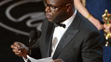Steve McQueen accepts the award for best picture of the year for 12 Years A Slave (AP)