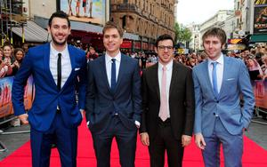 (Left to right) Blake Harrison, Joe Thomas, Simon Bird and James Buckley attending the premiere of The Inbetweeners 2 (Ian West/PA)