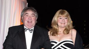 Eddie Large with his wife (Yui Mok/PA)