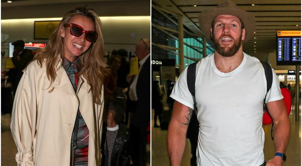 I'm A Celebrity stars touch down in the UK (Steve Parsons/PA)