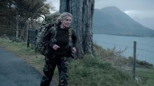 Anthea Turner braved a helicopter jump and other challenges before leaving (Channel 4).