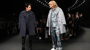 Actors Ben Stiller, left, and Owen Wilson wear creations for Valentino in a stunt to mark the launch of Zoolander 2 (AP)
