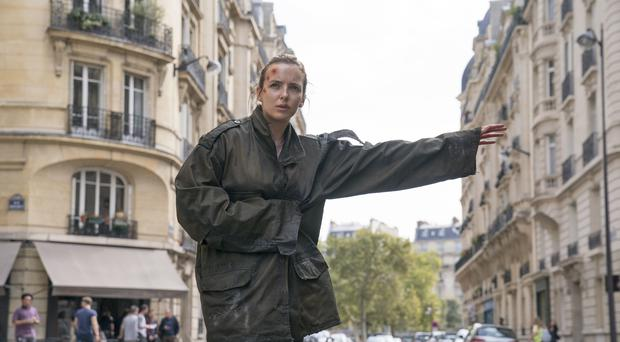 BBC handout photo of Villanelle, played by Jodie Comer, in season two of Killing Eve (Aimee Spinks/BBC America)