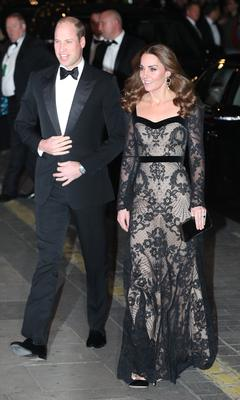 The Duke and Duchess of Cambridge arrive for the Royal Variety Performance (Jonathan Brady/PA)