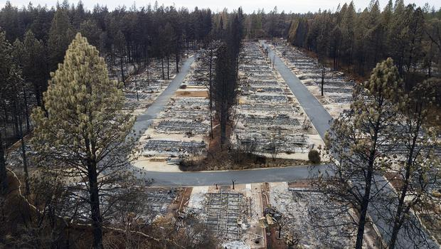 The aftermath of a devastating fire in Paradise, California, where 95% of the town was destroyed (AP Photo/Noah Berger)