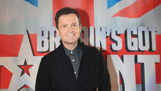 Declan Donnelly takes part in a knife trick on Saturday's edition of Britain's Got Talent (Peter Byrne/PA)