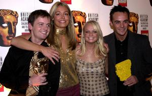 Cat Deeley, Ant and Dec with Spice Girl Emma Bunton (Fiona Hanson/PA)
