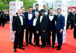 Stars of the first The Real Full Monty in 2017 – Dominic Littlewood, Alexander Armstrong, Elliott Wright, Wayne Sleep, Ashley Banjo, Danny John-Jules, Mark Foster and Matthew Wolfenden (Ian West/PA)