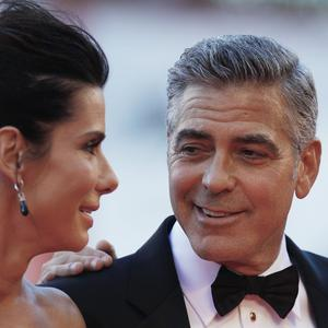 Sandra Bullock and George Clooney at the screening of Gravity at the 70th edition of the Venice Film Festival (AP)