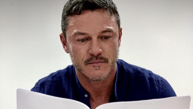 Luke Evans reads the script for The Pembrokeshire Murders (ITV/PA)