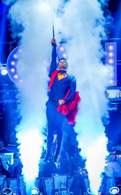 Mark Wright as Superman (Guy Levy/BBC/PA)