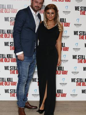 Dani Dyer (right) arrives with her father Danny Dyer (left) for a screening of 'We Still Kill Them The Old Way' at Ham Yard Hotel, Soho, London.