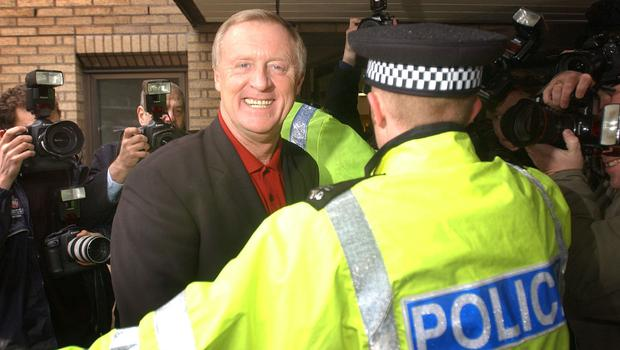 The 2003 PA picture of Who Wants To Be A Millionaire? host Chris Tarrant arriving at Southwark Crown Court (Stefan Rousseau/PA)